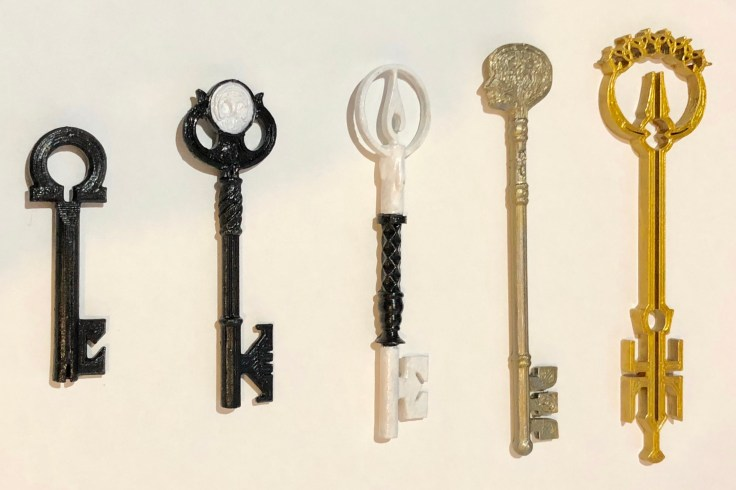 3D Printed Locke and Key Keys!