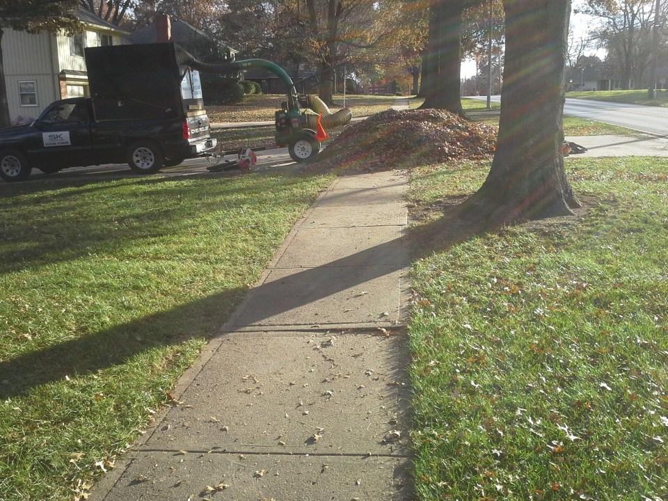 Leaf Removal, SK Lawn Care, Lawn Care Service, Landscape Service