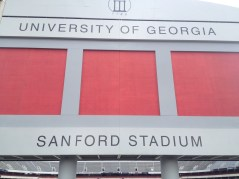 One of my favorite shots from the semester; Sanford Stadium at UGA. Go Dawgs!