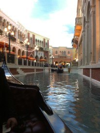 Riding on the Gondolas at the Venetian!