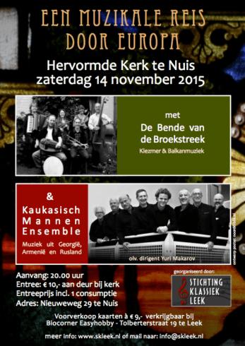 poster Stichting Klassiek Leek Bende van de Broekstreek ontwerp noorderblik