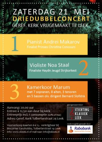 Concert Stichting Klassiek leek vormgeving Noorderblik