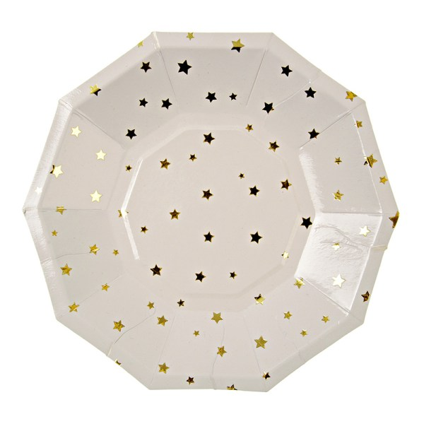 Toot Sweet Gold Stars Small Party Plate