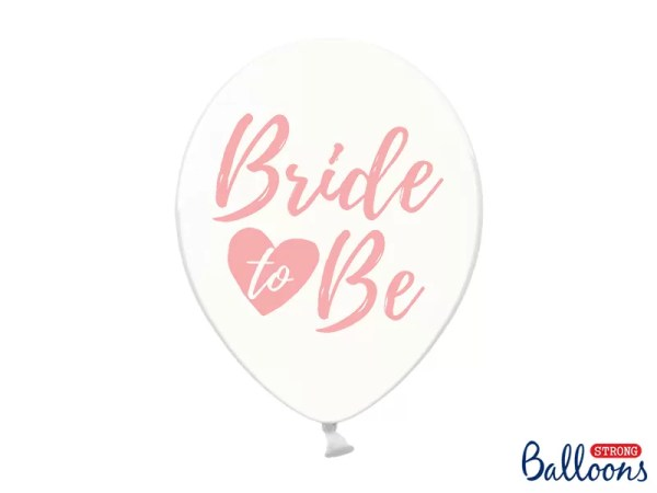 BALON BRIDE TO BE RÓŻOWY 30 CM 1