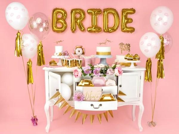 BALON BRIDE TO BE RÓŻOWY 30 CM 2