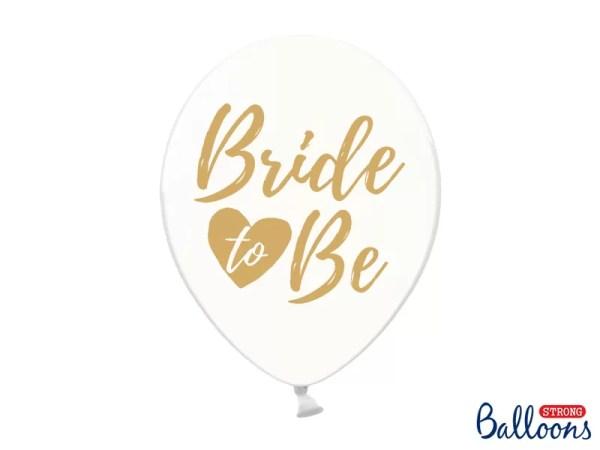 BALON BRIDE TO BE ZŁOTY 30 CM 1