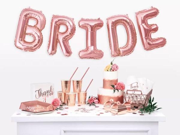 SERWETKI BRIDE TO BE RÓŻOWE ZŁOTO 4