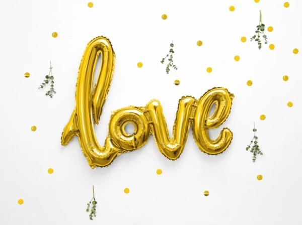 BALON LOVE ZŁOTY 73 CM 1