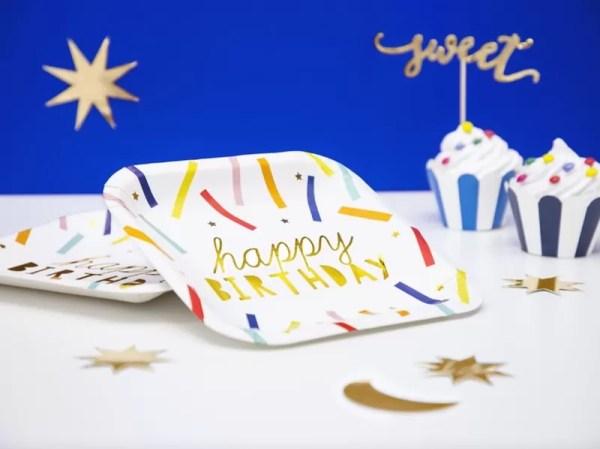 TALERZYKI HAPPY BIRTHDAY KOLOR 2