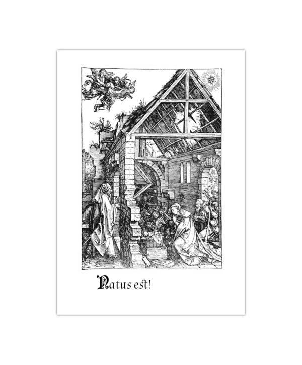 Kartka bożonarodzeniowa – Albrecht Dürer, Narodzenie, 1511