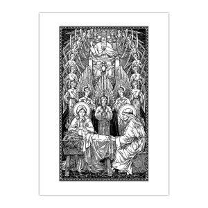 Kartka bożonarodzeniowa – Rene De Cramer, Narodzenie
