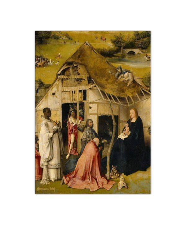 Kartka bożonarodzeniowa – Hieronim Bosch, Pokłon Trzech Króli, 1510