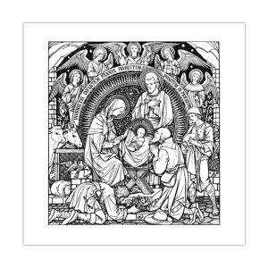 Kartka bożonarodzeniowa – Pokłon pasterzy — ilustracja z Mszału Rzymskiego