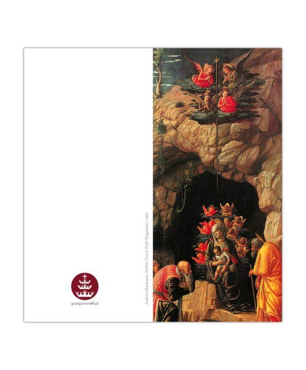 Kartka bożonarodzeniowa – Andrea Mantegna, Pokłon Trzech Króli (fragment), 1460