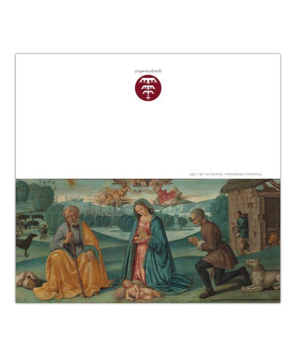 Kartka bożonarodzeniowa – Domenico Ghirlandaio, Narodzenie, ok. 1480