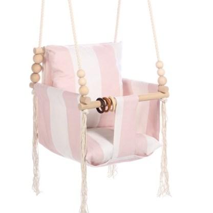 Huśtawka Vintage Decor Pink Stripes