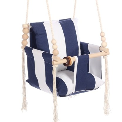 Huśtawka Vintage Decor Blue Stripes