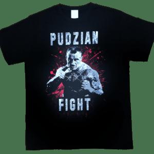 Sama koszulka z przodu - Pudzian Fight czarna