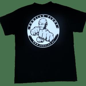 Sama czarna koszulka Pudzian Fight z tyłu