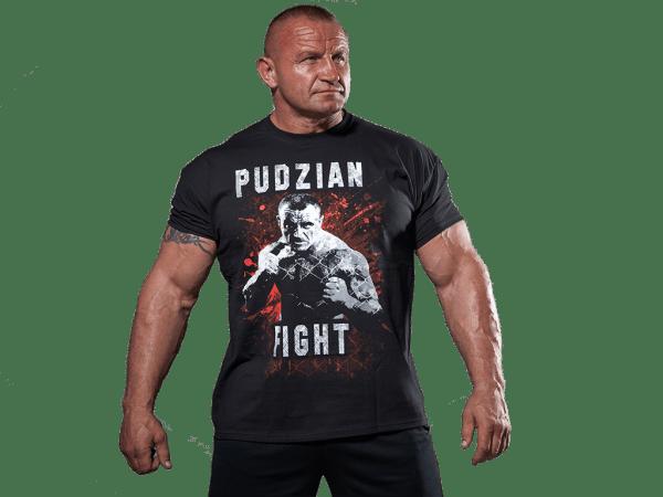 Czarna koszulka Pudzian Fight - przód