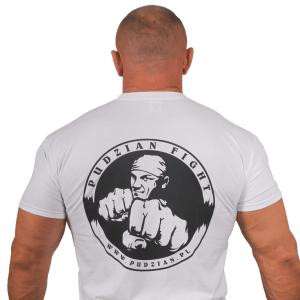 Biała koszulka Pudzian Fight - przód