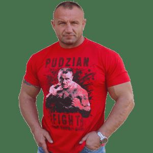 Czerwona koszulka Pudzian Fight - przód