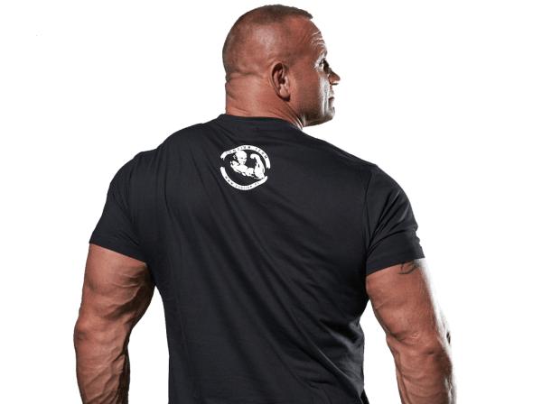 Samo się nic nie zrobi czarna koszulka z tyłu