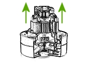 przemysłowa turbina HEM odkurzacz HHR 200 Harry Numatic