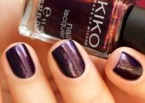 Kiko Milano #497 Pearly Indian Violet nail laquer swatches