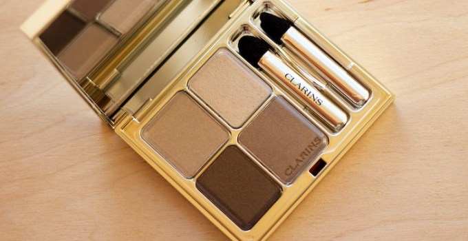 Clarins #13 Skin Tones Eye Quartet Mineral Palette Long-Lasting Wet & Dry