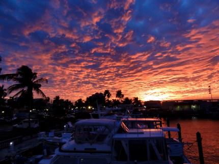 Sunset at Yacht Basin