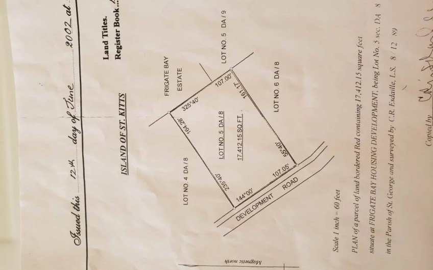 Land for sale in Frigate Bay | Lot 5 | 17,412.15 sq ft