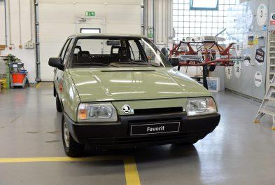 Prototyp vozidla ŠKODA FAVORIT v klasické barvě agáve