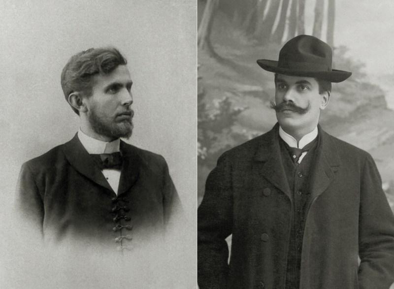 Václav Klement (vlevo) a Václav Laurin (vpravo)