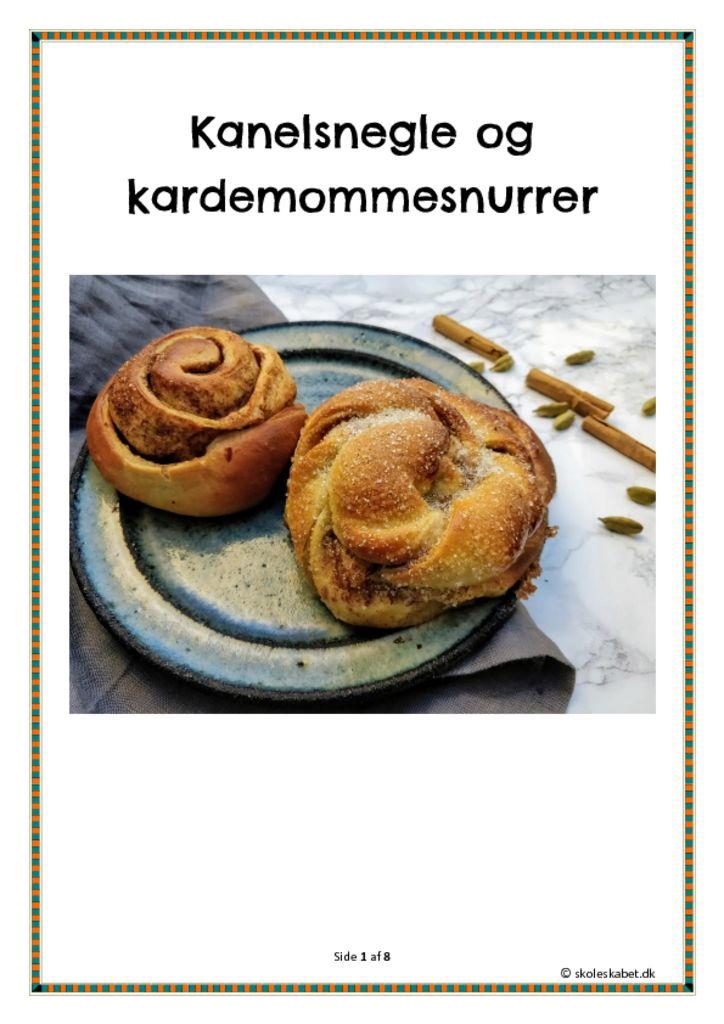 Kanelsnegle – et undervisningsforløb i madkundskab