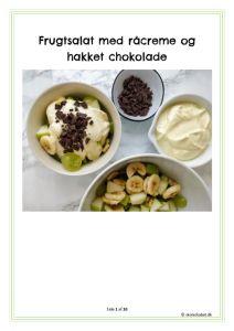 thumbnail of Frugtsalat med råcreme og hakket chokolade
