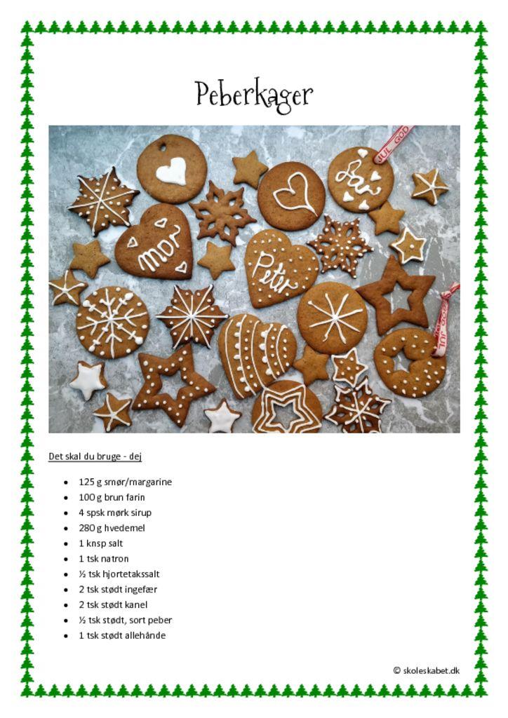 Juleopskrifter til madkundskab