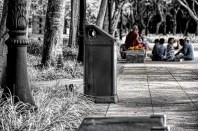 Monk on a Bench