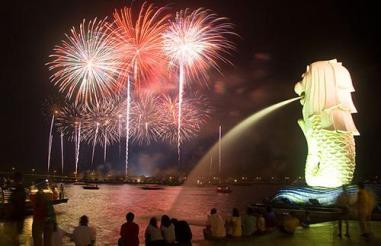 Fireworks at Marina Bay