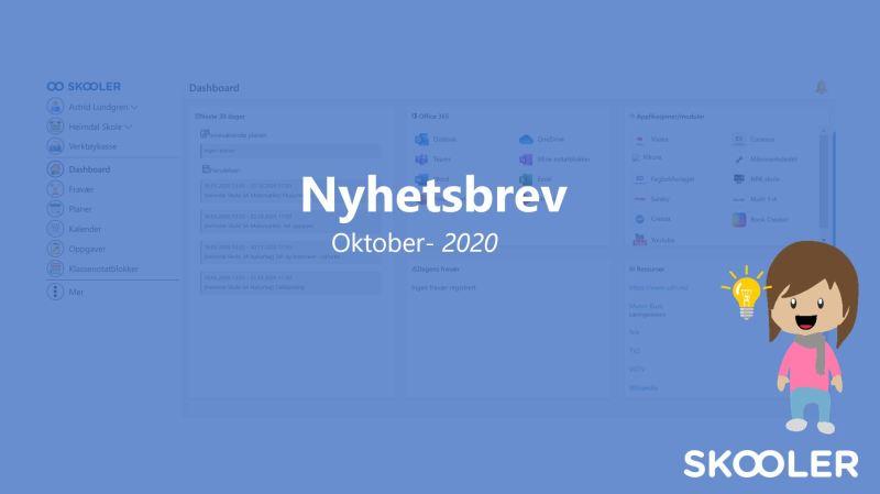 Nyhetsbrev – oktober 2020