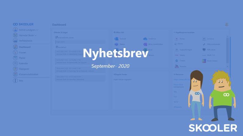 Nyhetsbrev – september 2020