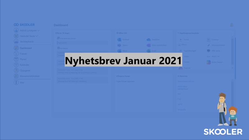 Nyhetsbrev – januar 2021