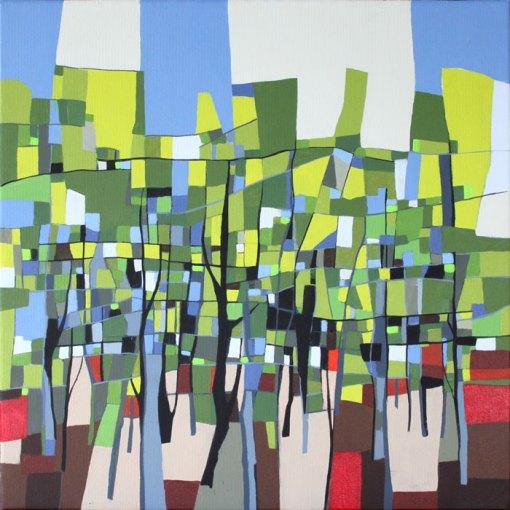 Abstrakt maleri Skovstemning
