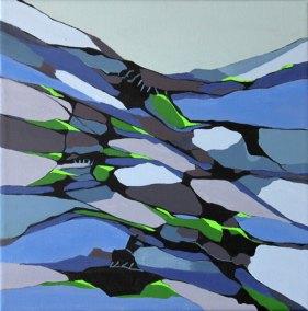 Abstrakt maleri af aftenstemning