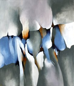 Abstrakt maleri om det der knytter os sammen