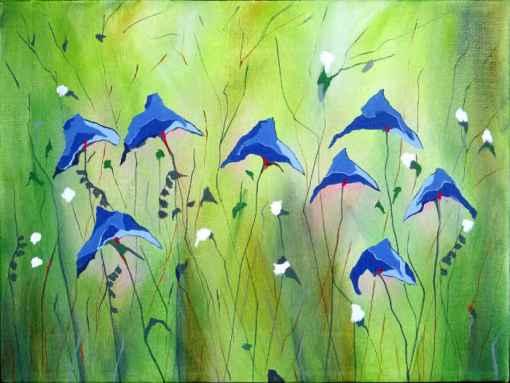 Abstrakt maleri blomster