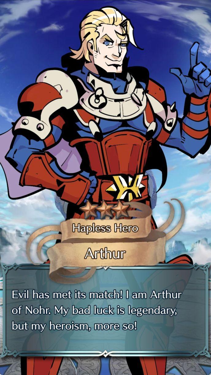 arthur hapless hero 3 star summon