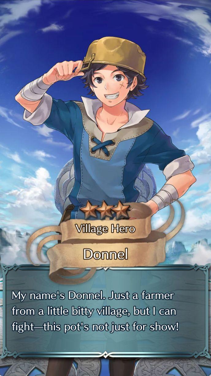 donnel village hero 3 star summon