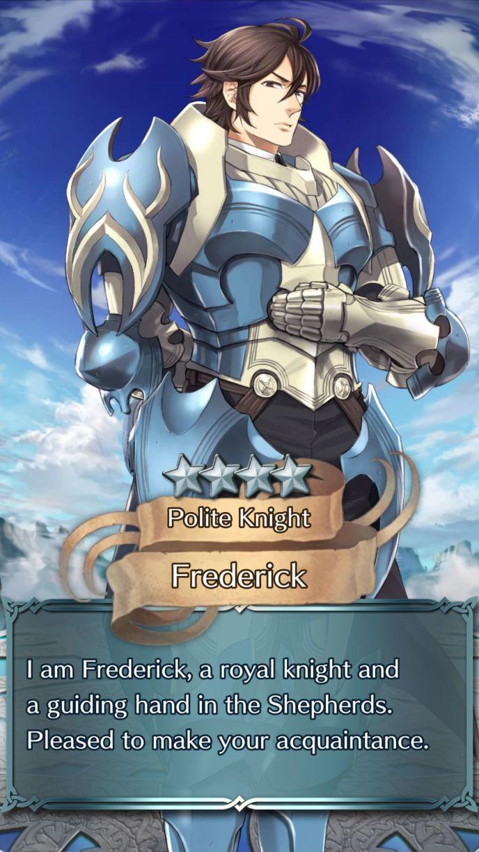 frederick polite knight 4 star summon