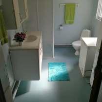 Touiletfaciliteter inkl. Vaskemaskine og tørretumbler